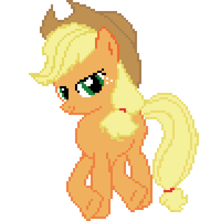 Applejack (pixel art) by AjgorB25