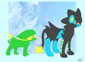 Electrike and Luxray by ShadowSilverfan1997