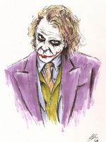 Heath Ledgers Joker by MikimusPrime