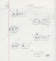 Mochi Doodles from school by InuKid
