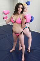BOXING BEAUTIES AJ and Kayla Lael # 2 by sleeperkid