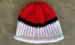 Pokeball Crochet Beanie by RebelATS