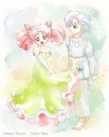 ChibiUsa and Peruru by Fururin
