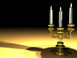 Candelabra 3D Model (improved) by Natnie