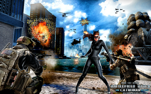 BATTLEFIELD BABES: DARK CAT RISES: CATWOMAN by CSuk-1T