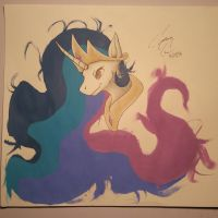 MLP - Princess Celestia by Drawingandthings