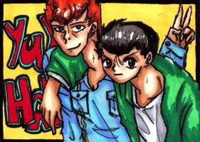 YuYu Hakusho Tribute ACEO by Foxy-Sketches