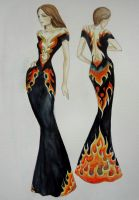 Flames dress design by transe