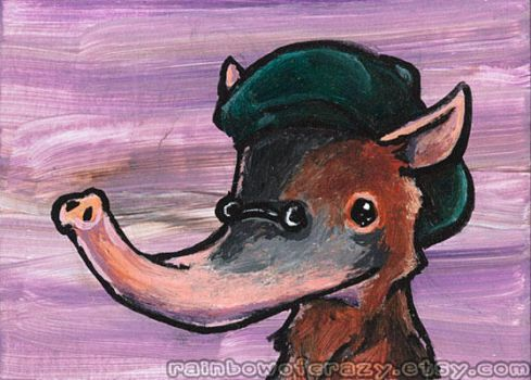 Beret Solenodon - ACEO by sobeyondthis