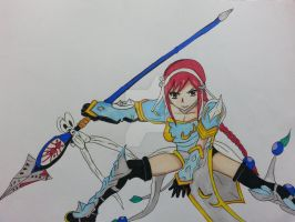 Erza with the lightning empress armor by VasilissaBlues