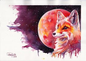 Fox and Mars by AnnaP-Artwork