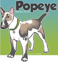 x_. Popeye the Bull Terrier by srspibble