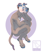 a very sad pup [flat comm] by VCR-WOLFE