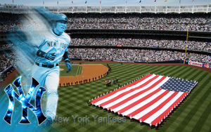 New Yankee stadium Wallpaper by wickedwotwes