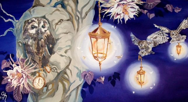 How Owls Perceive the Night by Gavenia