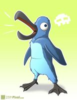 Blue Penguin Illustration by 25thPixel