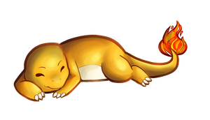 Charmander Sticker by Nonsensical-Me
