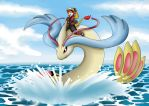 Milotic swim by Crysalia777