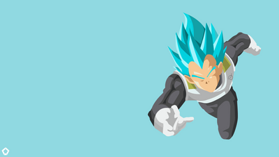 Vegeta SSGSS| Minimalist Wallpaper by Darkfate1720