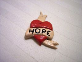 Hope heart tattoo magnet by tobilou