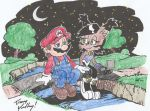 Mario and Nicole - Starry Night Colored by Yardley by MarioandSonic999