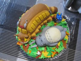 Totoro Cake Top View by Leara