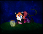 Commission - Jar of Fireflies by MimiMarieT