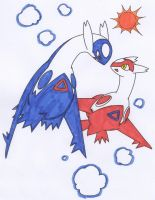 latios and latias by eagla-the-eagle