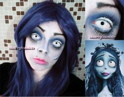 Halloween Makeup Inspired Look Corpse Bride by cherrybomb-81