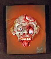 3D painting Zombie Jawless by Undead-Art