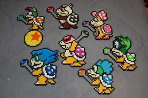 Koopalings Perler by evilpika
