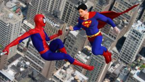 Superman vs The Amazing Spider-Man by kevmann