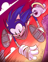 Sonic BOOMIN' by RavenousRuss