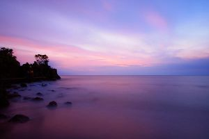 Twilight beach.. by Rnd-ang