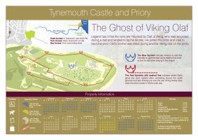 Tynemouth castle Ghost by haighy