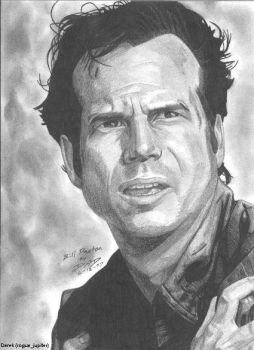 Bill Paxton portrait by RogueDerek