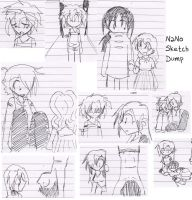NaNoWriMo 2009 SketchDump by KaruLeonnese