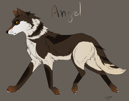 Birthday Gift--- Angel Ref by DarkHeartSeer