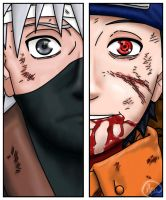 Kakashi and Obito by asuKai