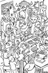 Warble Art Party Coloring Page by hyronomous