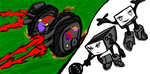 Race team, Plutobots bot23 and bot13 by Madzmen