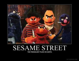Demotivational: Sesame Street by Draco180