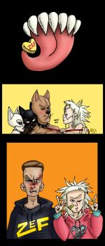 A Pitbull and His Rat Queen by AwesomeAria