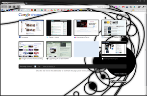 Black Abstraction Chrome Theme by LegendaryGIR