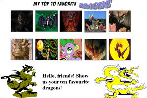 Top 10 Favorite Dragons by V1EWT1FUL