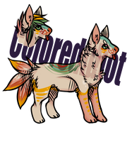 colorful pup adopt CLOSED by NightFoxAdopts