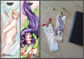 Aminael and Sif bookmarks by CristianaLeone