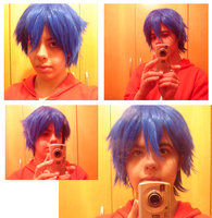 Wig Test- Gerard Fairy Tail by RavenNoodle