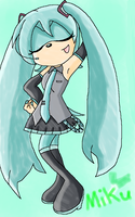 Miku the hedgehog by Chrismh