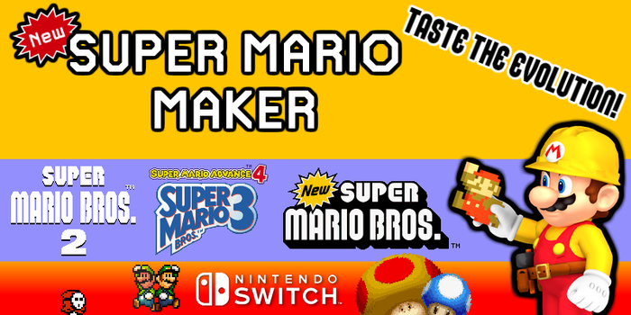 New Super Mario Maker for Nintendo Switch Concept by Waluigifan32